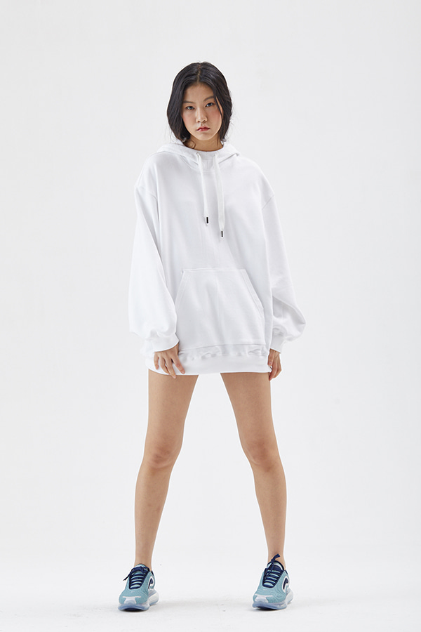 [19SS] JAIN SHELL EMBROIDERY OVER FIT HOOD SWEATSHIRT (JSST205)_박민영, 이유영 착용