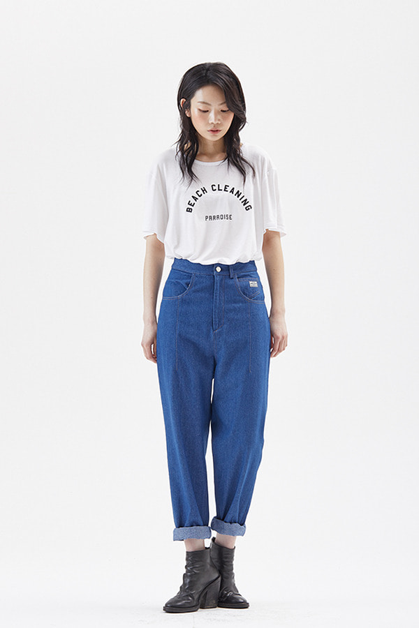 [19SS] HIGHRISE CASUAL COTTON PANTS_NAVY (JSSS111-51)