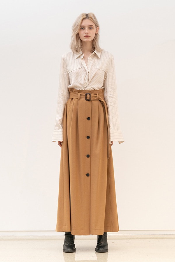 [19FW] A LINE BELTED LONG SKIRT (JSJK101)