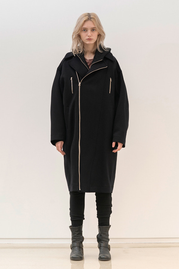 [19FW] ZIPPER DETAIL OVERSIZE FIT COAT (JSJC106)