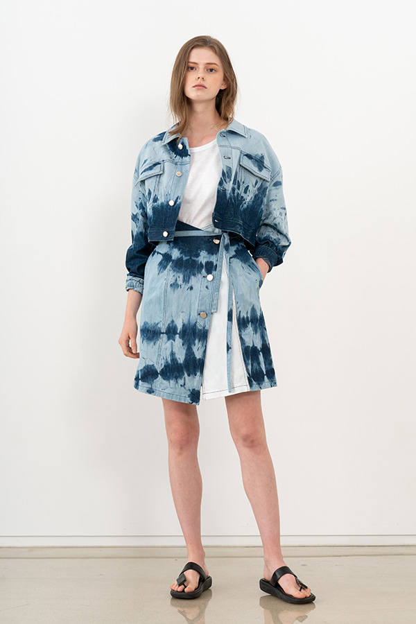 [20SS] TIE-DYE DENIM CROPPED JACKET (JTSJ114)