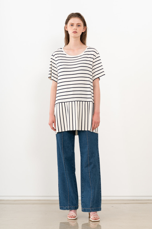 [20SS] STRIPED RUFFLE T-SHIRT (JTST114)