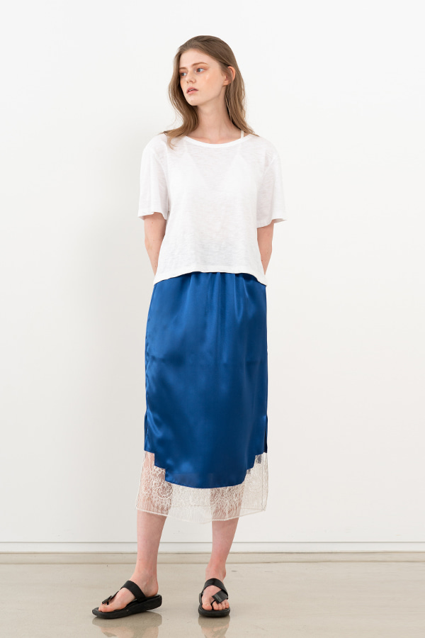 [20SS] SILK LACE DETAIL SKIRT (JTSK106-50)