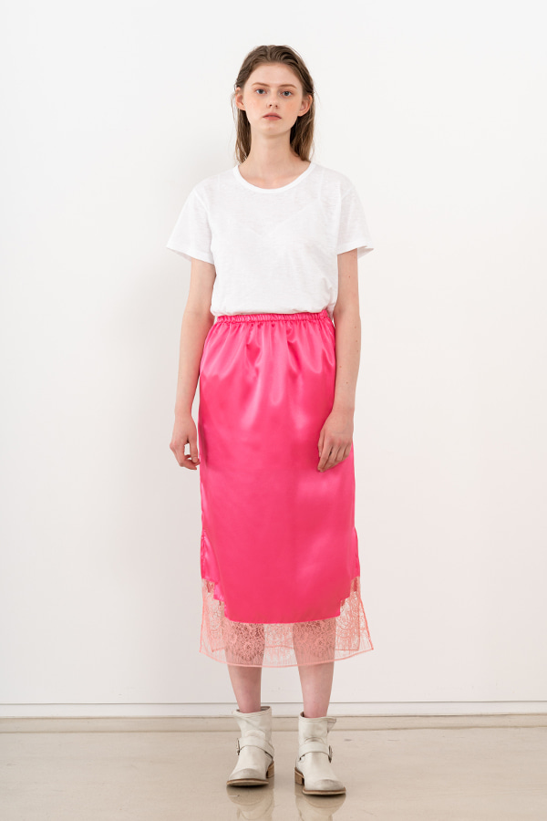 [20SS] SILK LACE DETAIL SKIRT (JTSK106-45)