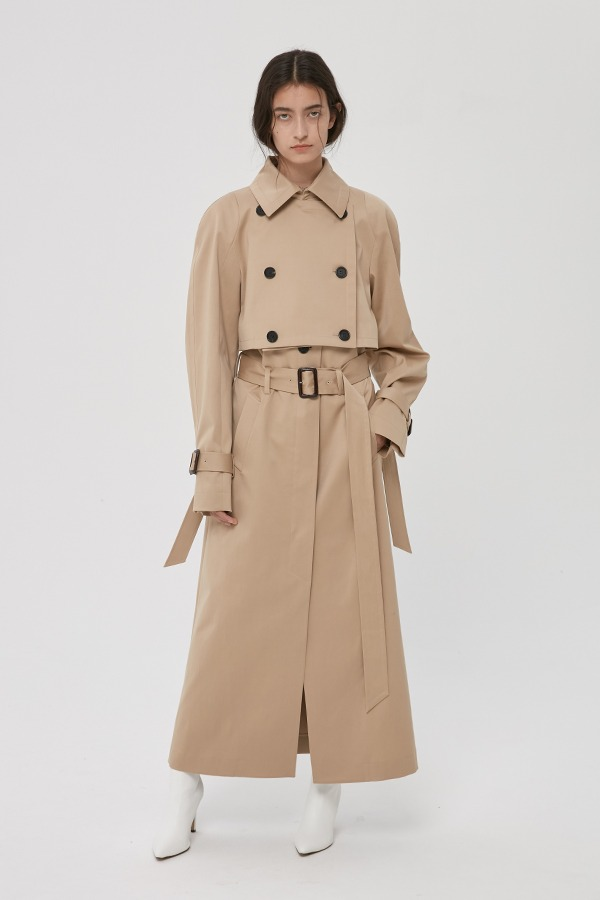 [20FW] BEIGE VIRGIN WOOL SEPARATED TRENCH COAT (JTJC103)