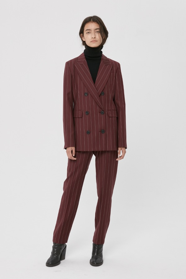 [20FW] WINE WOOL STRAIGHT TROUSERS (JTJS105) (수영,이주영 착용)
