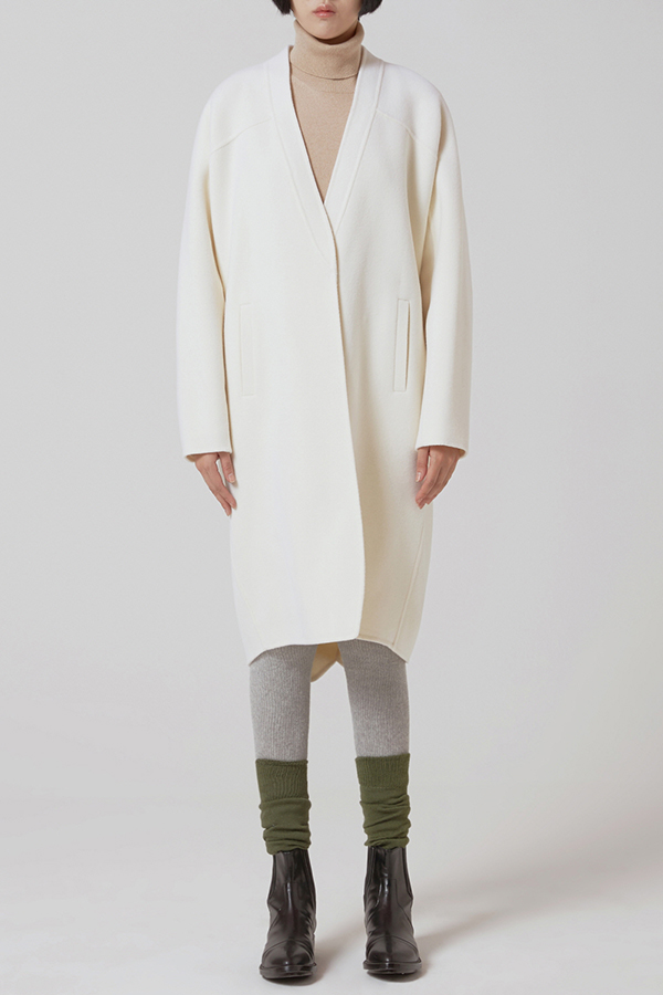 [17FW] HANDMADE COCOON FIT WOOL COAT (JQJC117/ IVORY)