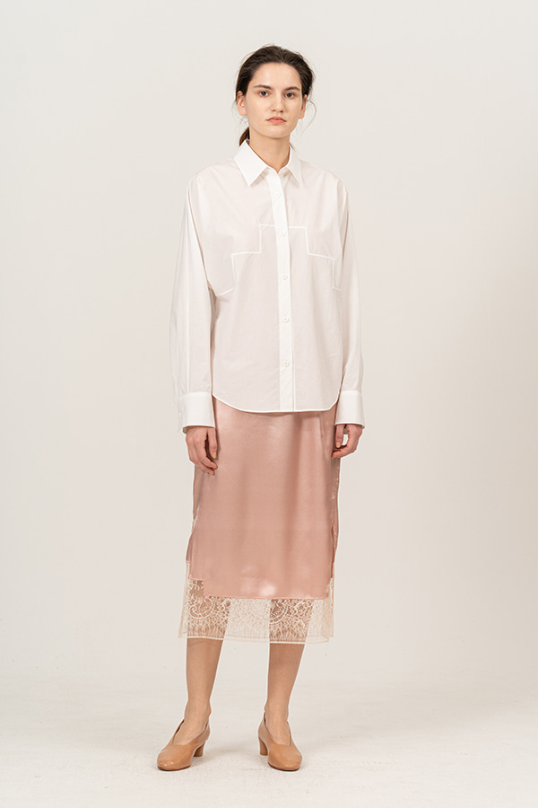 [20SS] SILK LACE DETAIL SKIRT (JTSK106-70)